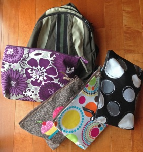 backpack with zipper pouched