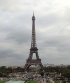 Obligatory Eiffel Tower picture.  I froze at the top in October 2014.