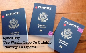Use Washi Tape To Quickly Identify Passports