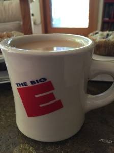The Big E mug that was in the cabinet. It was a touch of home all the way out in Wisconsin. I claimed as my own for the week.